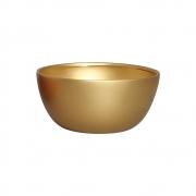 Cachepot Redondo Cerâmica Dourado Decoração 13,6x28,4 cm