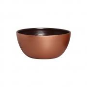 Cachepot Redondo Cerâmica Marrom E Bronze Decoração 13,6x28,4 cm
