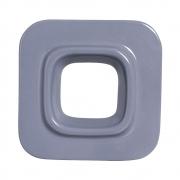 Cobogó Bauhaus Quadrado Cinza em Cerâmica Esmaltada 19,5x19,5x6,5 Cm