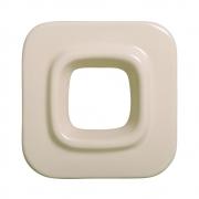 Cobogó Bauhaus Quadrado Nude em Cerâmica Esmaltada 19,5x19,5x6,5 Cm
