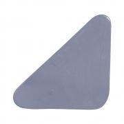 Cobogó Bauhaus Triângulo Cinza em Cerâmica Esmaltada 19,5x19,5x6,5 Cm