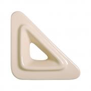 Cobogó Bauhaus Triângulo V Nude em Cerâmica Esmaltada 19,5x19,5x6,5 Cm