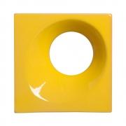 Cobogó de Cerâmica Amarelo Esmaltado Linha Orvalho G 19,5x19,5x8 Cm