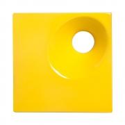 Cobogó de Cerâmica Amarelo Esmaltado Linha Orvalho P 19,5x19,5x8 Cm