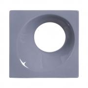 Cobogó de Cerâmica Cinza Esmaltado Linha Orvalho G 19,5x19,5x8 Cm