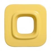 Cobogó Nova Bauhaus Quadrado Amarelo Claro em Cerâmica Esmaltada 19,5x19,5x6,5 Cm