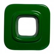 Cobogó Nova Bauhaus Quadrado Verde Musgo em Cerâmica Esmaltada 19,5x19,5x6 Cm