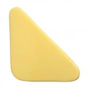 Cobogó Nova Bauhaus Triângulo Amarelo Claro em Cerâmica Esmaltada 19,5x19,5x6 Cm