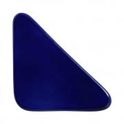 Cobogó Nova Bauhaus Triângulo Azul Cobalto Em Cerâmica Esmaltada 19,5x19,5x6 Cm