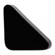 Cobogó Nova Bauhaus Triângulo Preto Em Cerâmica Esmaltada 19,5x19,5x6 Cm