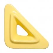 Cobogó Nova Bauhaus Triângulo V Amarelo Claro em Cerâmica Esmaltada 19,5x19,5x6 Cm