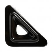 Cobogó Nova Bauhaus Triângulo V Preto Em Cerâmica Esmaltada 19,5x19,5x6 Cm