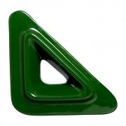Cobogó Nova Bauhaus Triângulo V Verde em Cerâmica Esmaltada 19,5x19,5x6 Cm