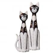 Dupla de Gatos P/ Chão Em Cerâmica P/ Sala