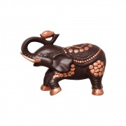 Elefante Decorativo em Cerâmica Marrom e Bronze Linha Topázio 25x34 cm