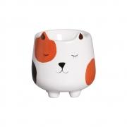 Mini Vasinho Cachorrinho Suculenta Cerâmica 8,7x8,1 cm