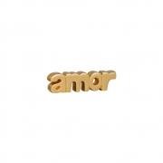 Palavra Amor  Decorativa Cor Dourada Da Linha Glamour 6x22,5 cm