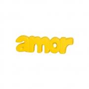Palavra Decorativa Amor Amarela Para Presente Criativo Linha Fashion