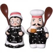 Par Cozinheiro e Cozinheira de Cozinha Em Cerãmica
