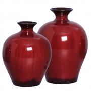 Par de Vasos Bojudo em Cerâmica Vinho Linha Passion
