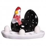 Porta Ovos de Galinha em Cerâmica 22x32 cm.