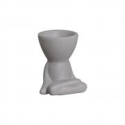 Robert Plant Pernas Cruzadas Cinza Cerâmica 10,7x9,5 cm