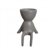 Robert Plant Sentado Cinza Cerâmica 15x9,3 cm