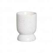 Vasinho M Em Cerâmica Branco P/ Plantas 13,3x9,6 cm
