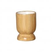 Vasinho M Em Cerâmica Cor Madeira P/ Plantas 13,3x9,6 cm
