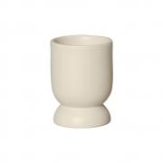 Vasinho M Em Cerâmica Marfim P/ Plantas 13,3x9,6 cm