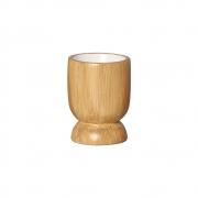 Vasinho P Em Cerâmica Cor Madeira P/ Plantas 10,6x8 cm