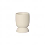 Vasinho P Em Cerâmica Marfim P/ Plantas 10,6x8 cm