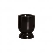 Vasinho P Em Cerâmica Preto P/ Plantas 10,6x8 cm
