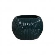 Vaso Azul Petróleo Linha Maré Em Cerâmica 17,7x24,4 cm