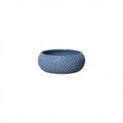 Vaso Botanicals Azul Em Cerâmica 10x25,5 cm
