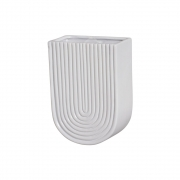 Vaso De Parede Em Cerâmica Branco 19,2x13,7