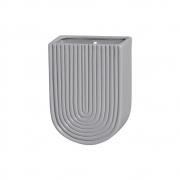 Vaso De Parede Em Cerâmica Cinza 19,2x13,7