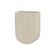 Vaso De Parede Em Cerâmica Marfim 19,2x13,7