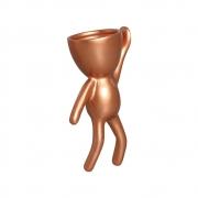 Vaso De Parede Robert Plant Alpinista Cerâmica Bronze 20x10,3 cm