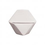 Vaso De Parede Sextavado Cerâmica Cor Branco 19,5x22 cm