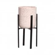 Vaso Em Cerâmica C/ Suporte Para Decoração Linha Granilite