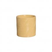 Vaso Moderno Cerâmica Amarelo 14,7x14,6 cm