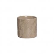 Vaso Moderno Cerâmica Bege 14,7x14,6 cm