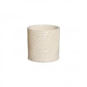 Vaso Moderno Cerâmica Granilite 14,7x14,6 cm