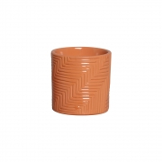 Vaso Moderno Cerâmica Laranja 14,7x14,6 cm
