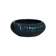 Vaso Redondo Azul Petróleo Linha Maré Em Cerâmica 11,1x27 cm