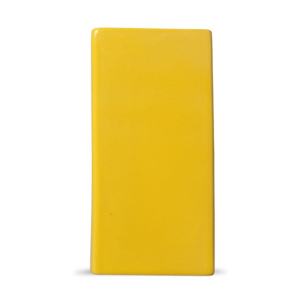 Acabamento Lateral Amarelo para Cobogó Esmaltado 19,5x8x2,5 cm