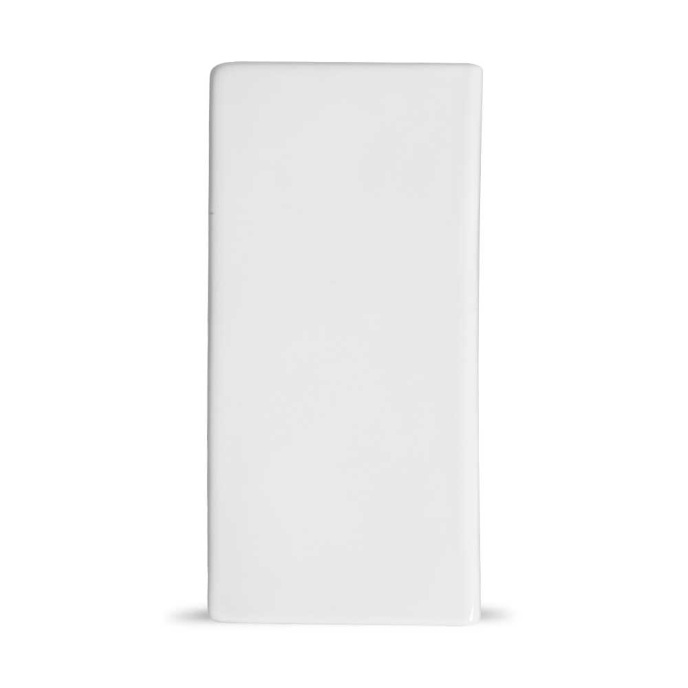 Acabamento Lateral Branco para Cobogó Esmaltado 20x8x2,5 cm