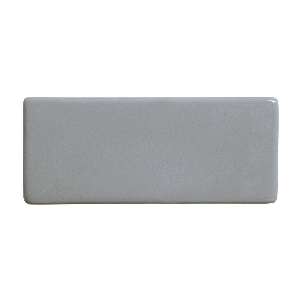 Acabamento Lateral Cinza para Cobogó Esmaltado 19,5x8x2,5 cm