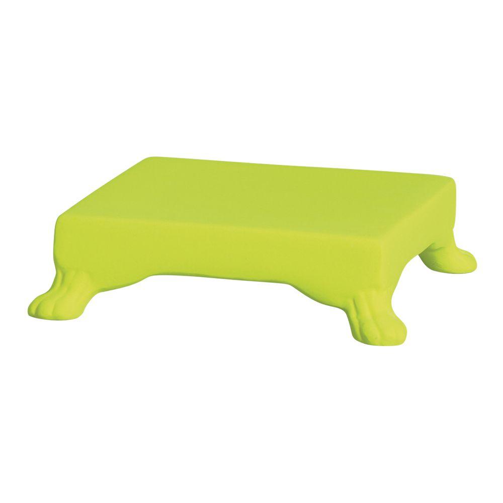 Base Quadrada Na Cor Amarelo Neon 5,5 x 20,5 cm